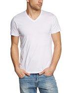 ESPRIT Herren T-Shirt Basic - Slim Fit, 995EE2K903, Weiß (WHITE 100), Medium (Herstellergröße: M)